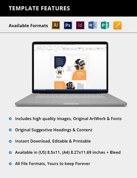 Editable Proposal TriFold Brochure