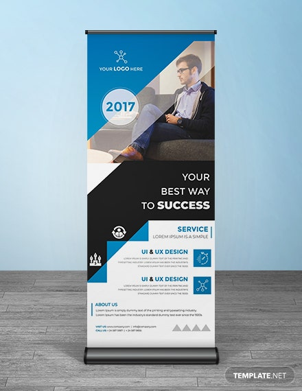 free multipurpose roll up banner template mockup 4