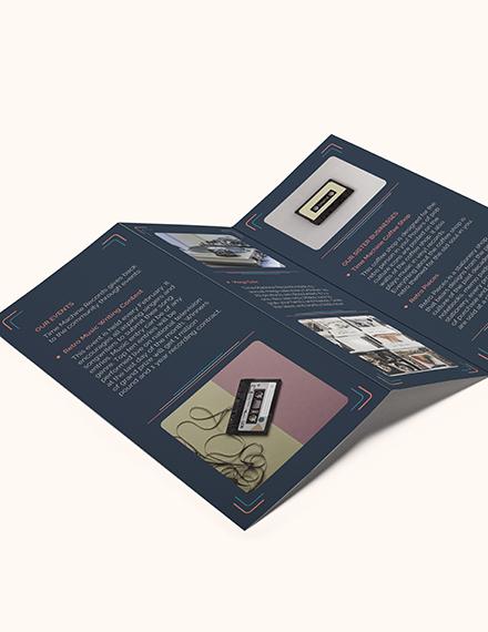 Retro Business TriFold Brochure Download