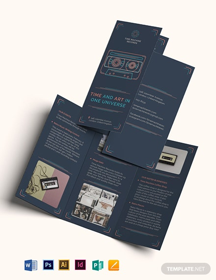 Retro Business Tri-Fold Brochure Template