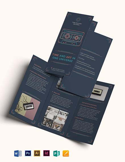 Retro Business Tri-Fold Brochure Template