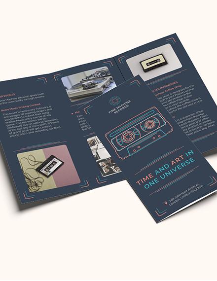 Sample Retro Business TriFold Brochure