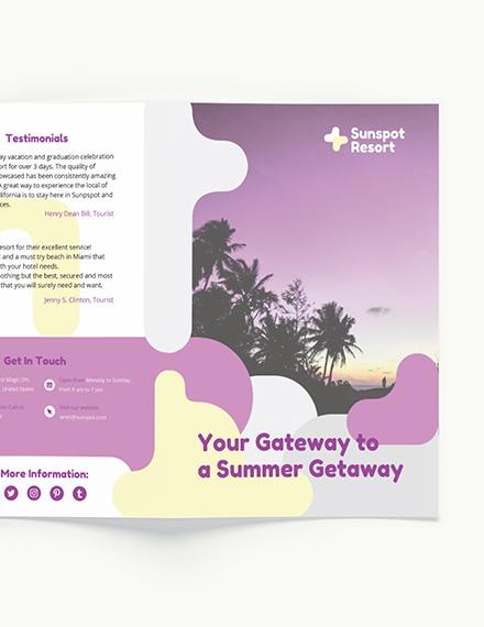 Sample Summer BiFold Brochure