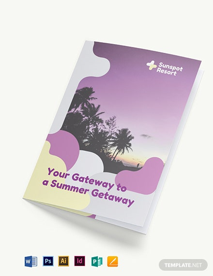 Summer Bi-Fold Brochure Template