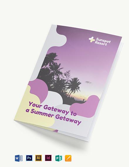 Summer Bi-Fold Brochure Template