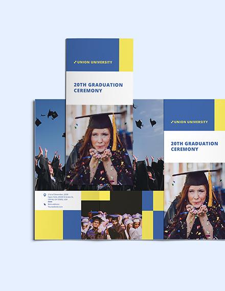 Sample University Graduation TriFold Brochure