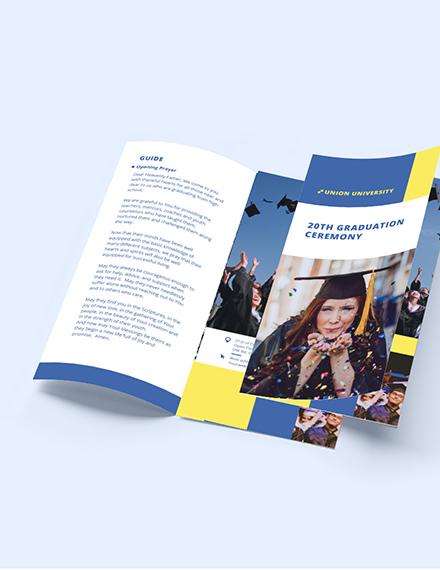 University Graduation TriFold Brochure Download