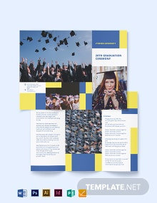 University Graduation Tri-Fold Brochure Template