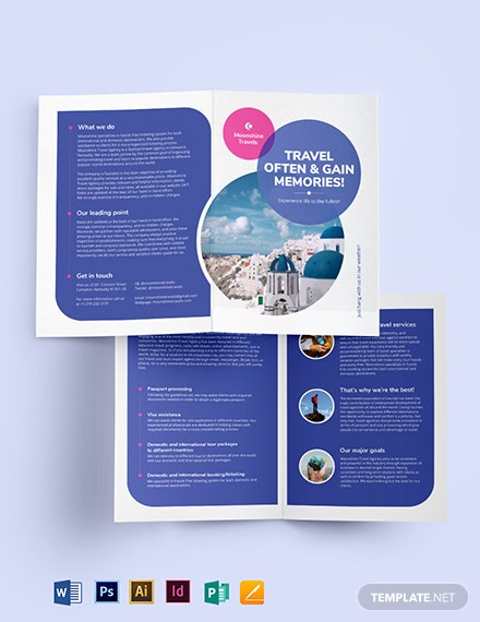 Vacation Bi-Fold Brochure Template