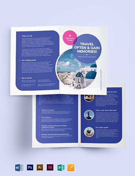 Vacation Bi-Fold Brochure Template