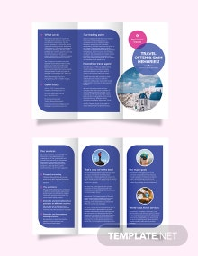Vacation Tri-Fold Brochure Template