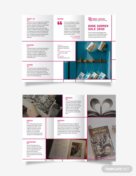 Vertical Tri-Fold Brochure Template