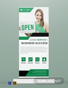 Free Official Roll Up Banner Template