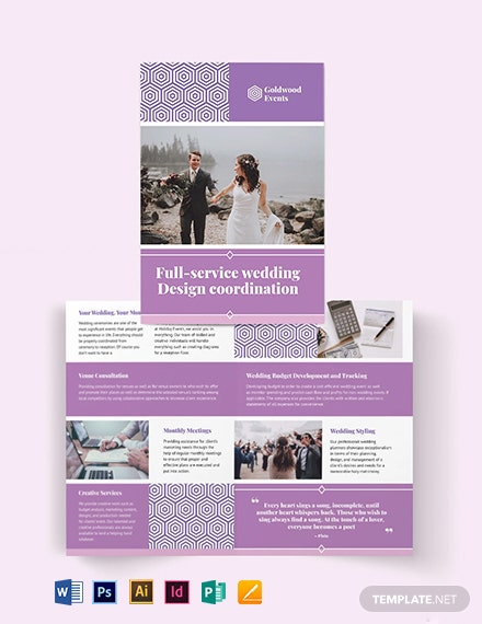 Wedding Event BiFold Brochure