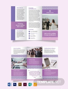 Wedding Event Tri-Fold Brochure Template