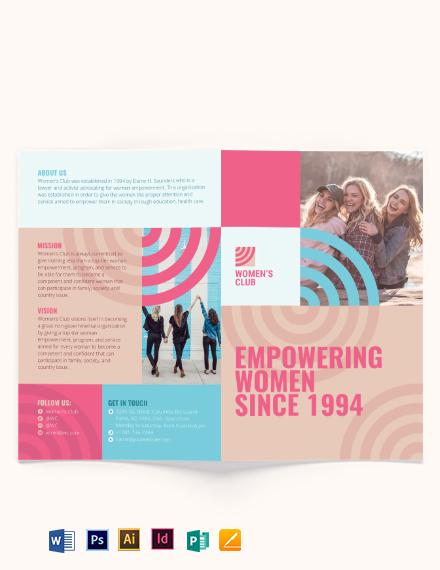 Women's Day Bi-Fold Brochure Template
