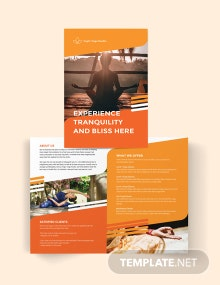 Yoga Studio Bi-Fold Brochure Template
