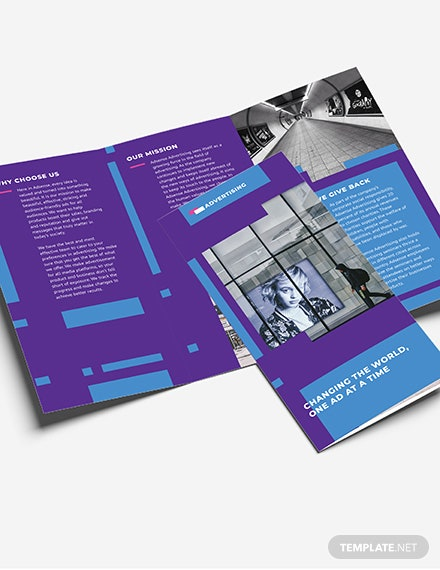 sample advertising company tri fold brochure