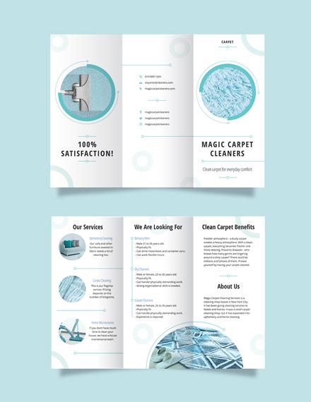 Carpet Cleaning Tri-Fold Brochure Template