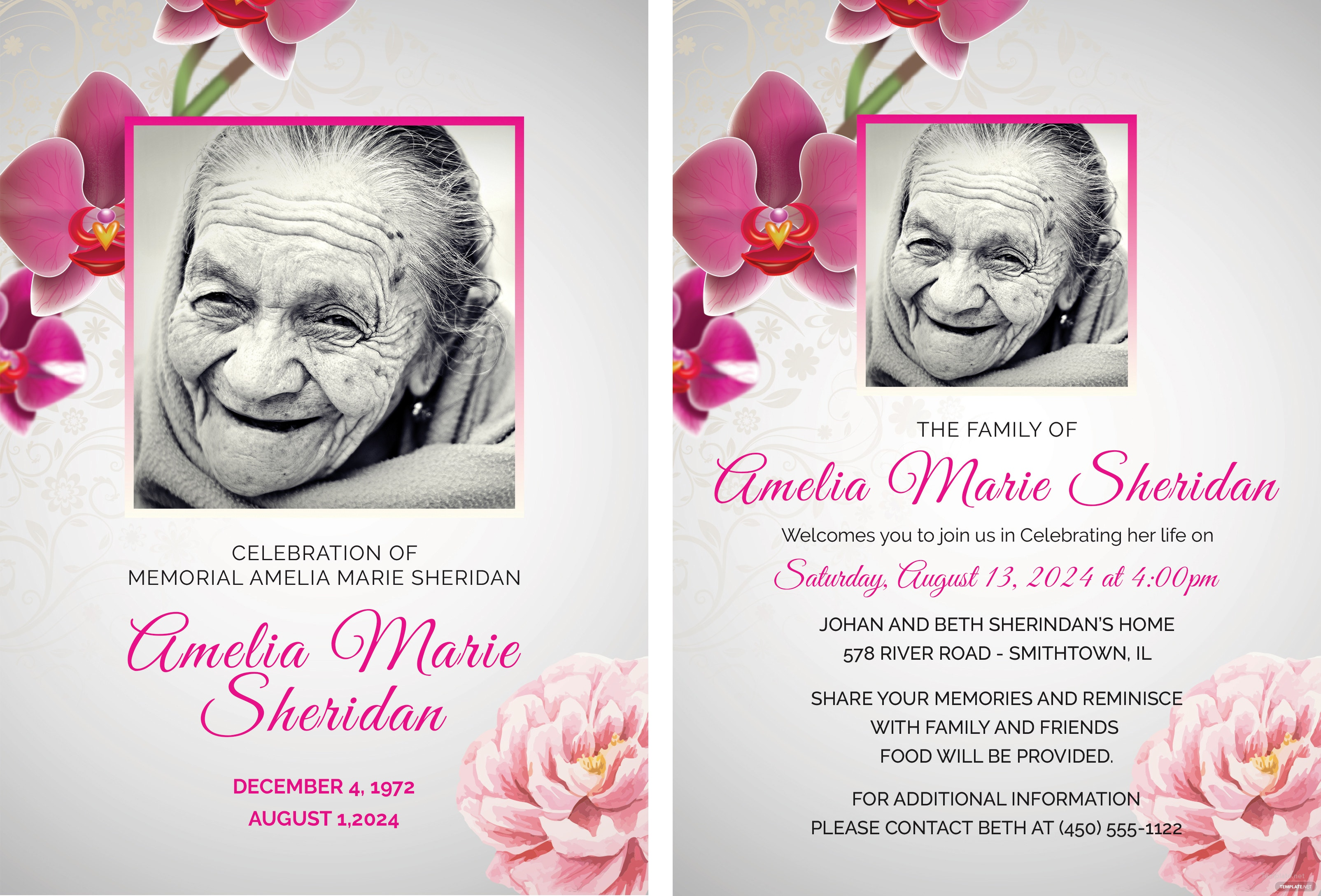 Memorial Cards Template Dokya Kapook Co