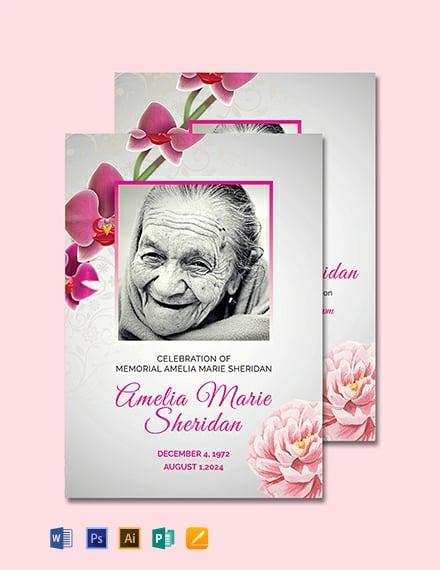 Free Funeral Memorial Card Template
