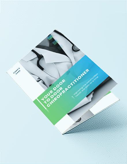 chiropractic bi fold brochure