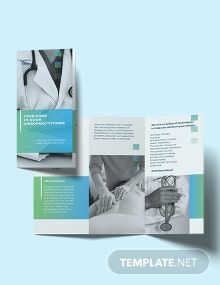 Chiropractic Tri-Fold Brochure Template
