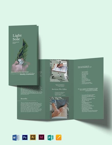 Chiropractic Clinic Tri-Fold Brochure Template