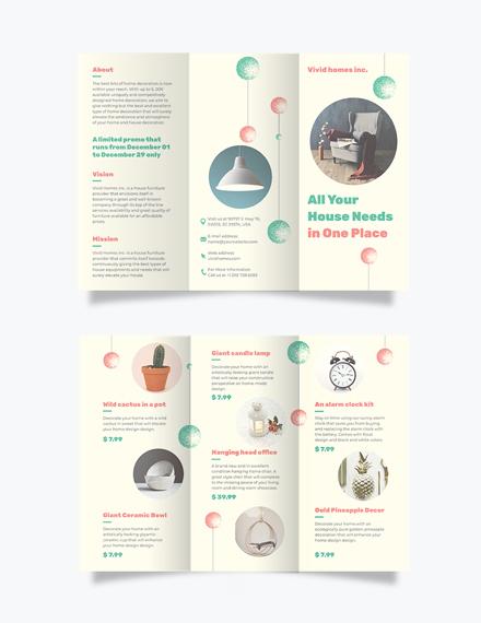 Christmas Tri-Fold Brochure Template