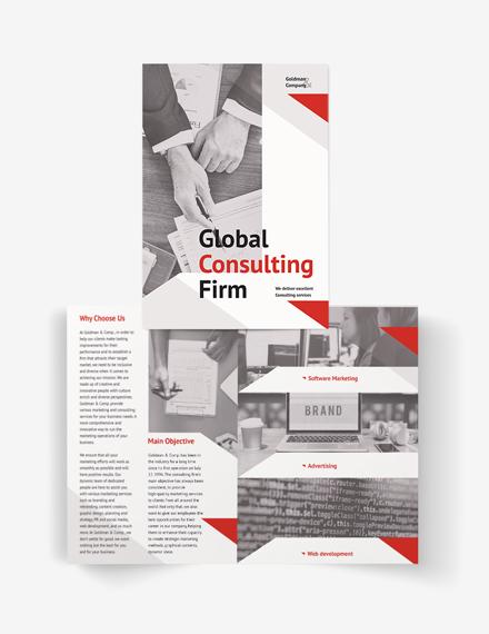 Consultant Bi-Fold Brochure Template