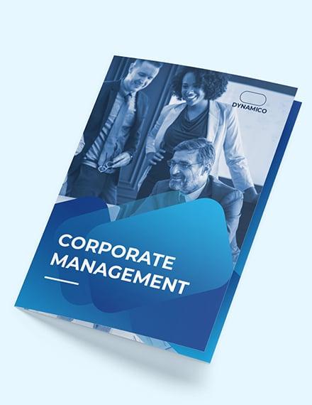 Corporate Management BiFold Brochure Download