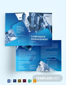 Corporate Management Bi-Fold  Brochure Template