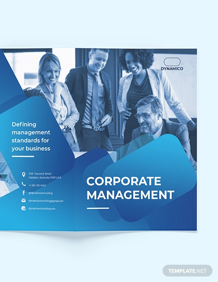 Sample Corporate Management BiFold Brochure