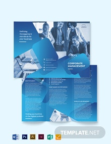Corporate Management Tri-Fold  Brochure Template