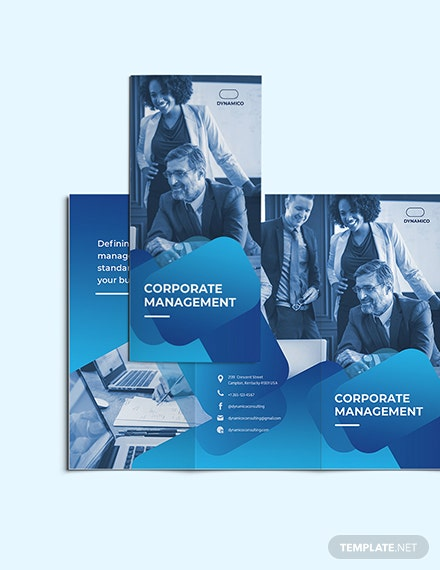 Sample Corporate Management TriFold Brochure