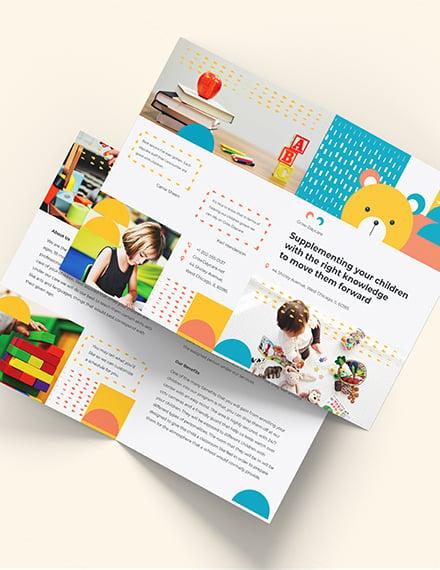 Daycare Center BiFold Brochure Download