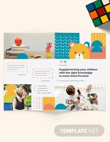 Daycare Center Bi-Fold Brochure Template
