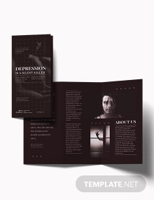 Depression Tri-Fold Brochure Template