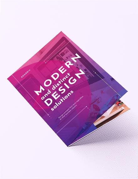 Design Company Bi-Fold  Brochure Template