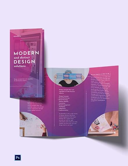 Design Company Tri-Fold  Brochure Template