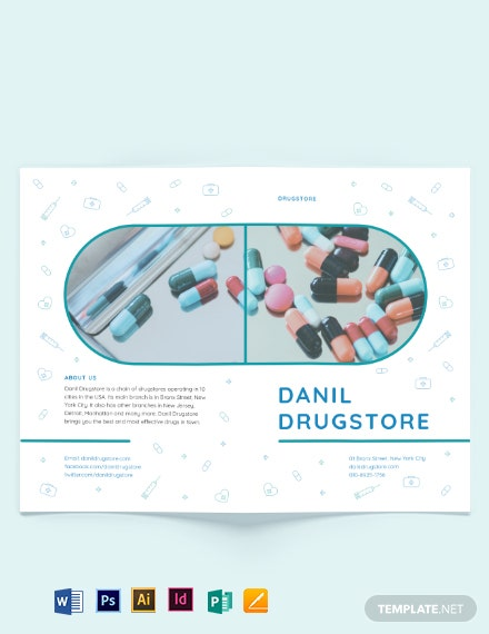 Drug Bi-Fold Brochure Template