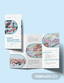 Drug Tri-Fold Brochure Template
