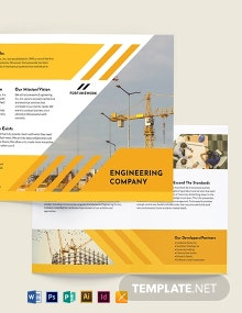 Engineering Company Bi-Fold Brochure Template