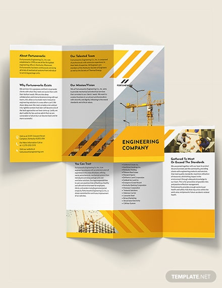 Engineering Company TriFold Brochure Download