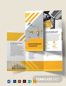 Engineering Company Tri-Fold Brochure Template