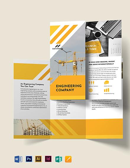 Engineering Company Tri-Fold Brochure Template