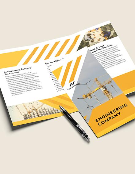 Sample Engineering Company TriFold Brochure