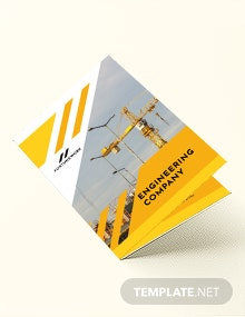 Editable Engineering Company Bi-Fold Brochure Template