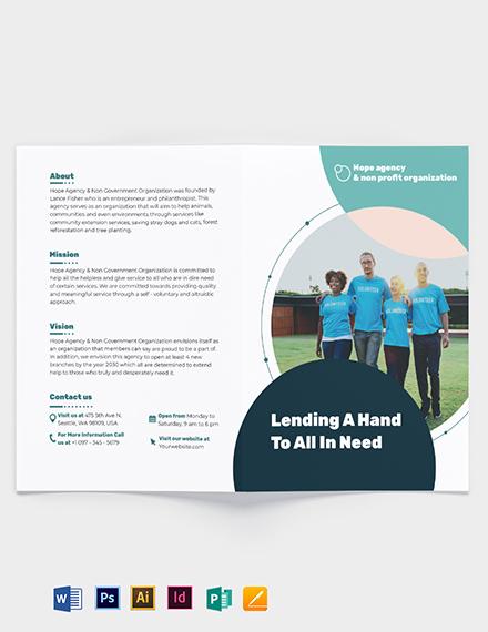 Fundraising Bi-Fold Brochure Template
