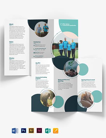 Fundraising Tri-Fold Brochure Template